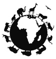 africa animal around the world vector image vector image