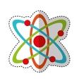 atom molecule isolated icon vector image