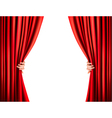 Background with red velvet curtain vector image vector image