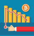 bitcoin exchange graphic down - creative vector image