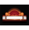 Brightly theater glowing retro cinema neon vector image vector image