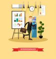 businessman concept in flat vector image vector image