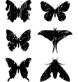 Butterfly grunge set 15 vector image vector image