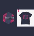 california summer graphic t-shirt design tropical vector image vector image
