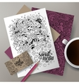 Cartoon cute doodles Social corporate vector image vector image
