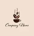 coffee shop logo template natural abstract coffee vector image vector image