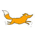 comic cartoon fox running vector image
