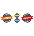 contact us sign round ribbon label set seal vector image vector image