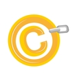 Copyright isolated flat icon design vector image