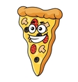 Cute slice of cartoon pizza vector image