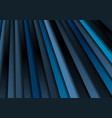 dark blue stripes abstract background vector image vector image