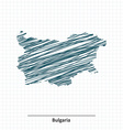 Doodle sketch of Bulgaria map vector image