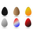 egg color set vector image