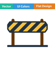 Flat design icon of construction fence vector image vector image