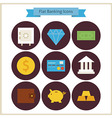 Flat Finance and Banking Icons Set vector image vector image