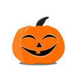 flat halloween pumpkin on the white background vector image