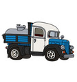 funny classic dairy tank truck vector image vector image