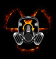 Gas mask and radiation icon vector image vector image