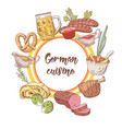 german traditional food hand drawn doodle vector image vector image