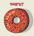 glazed donut isolated donuts with glaze and bite vector image vector image