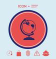 globe symbol - icon vector image vector image