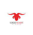 goat horn logo and symbols template icons app vector image