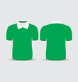 green polo t shirt vector image vector image
