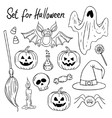 Halloween design elements Hand-drawn vector image vector image