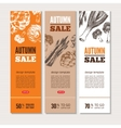 Hand-drawn vegetables on banners vector image