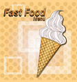 ice cream sweet dessert fast food concept flat vector image vector image