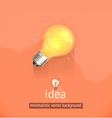 Idea minimalistic background vector image