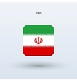 Iran flag icon vector image vector image