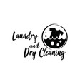 laundry logo emblems and design vector image vector image