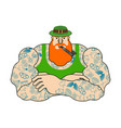 leprechaun hipster and pot gold tattoos and vector image vector image