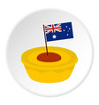 little flag icon circle vector image vector image