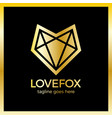 love fox logo vector image