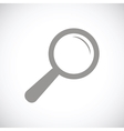 Magnifying glass black icon vector image