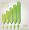 Modern Bar Speech Bubble Infographics Design vector image vector image