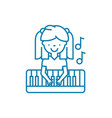 musical education linear icon concept musical vector image