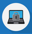 of security symbol on laptop vector image