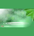 organic leaves with waterdrops dazzling effect vector image vector image