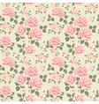Pink vintage rose pattern vector image vector image