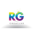 rg r g colorful letter origami triangles design vector image vector image
