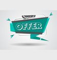 sale banner special offer sign shopping discount vector image vector image