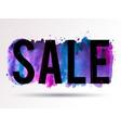 sale-splash-blue-violet-pink vector image vector image