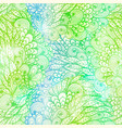 seamless floral grunge green gradient pattern vector image vector image
