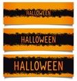 Set Halloween grunge banners vector image vector image