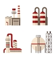 set of icons plant energy building vector image vector image
