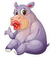 Sexy hippo vector image vector image