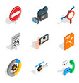 social engineering icons set isometric style vector image vector image